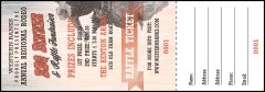 Bucking Bronco Rodeo Raffle Ticket