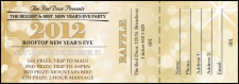 Gold Glitter Raffle Ticket